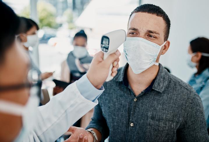Thermal screening at airports. air travel after coronavirus