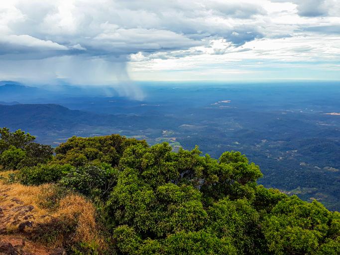 View from Kodachadri in Karnataka, India