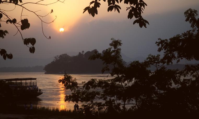 Sunset over Umananda island