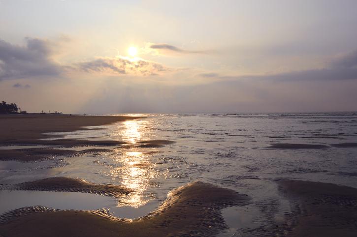 Beach at Sagar Island, Island in bay of bengal