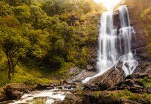 Hebbe falls in Chikmagalur, Karnataka, India.
