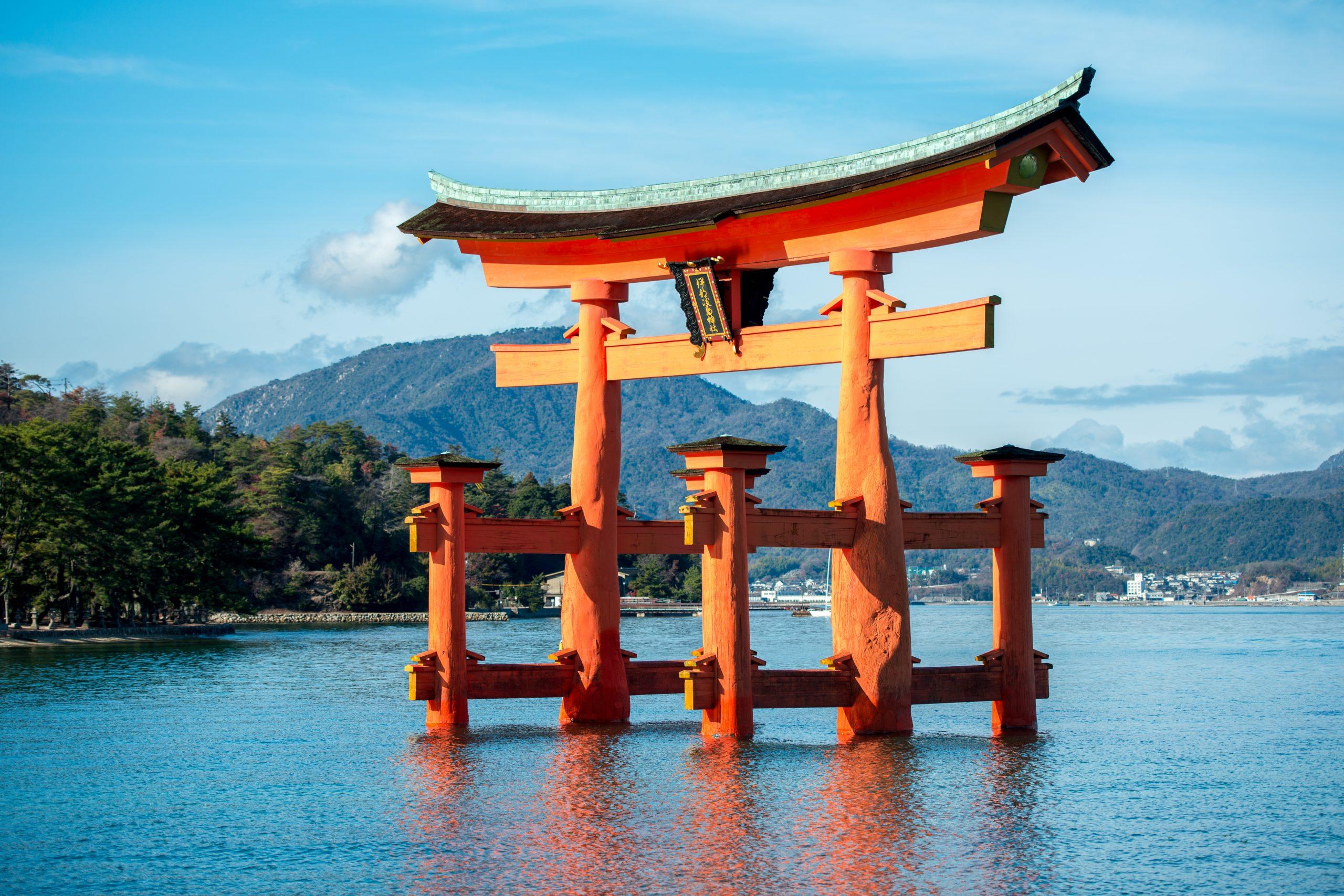 A shinto shrine gate
