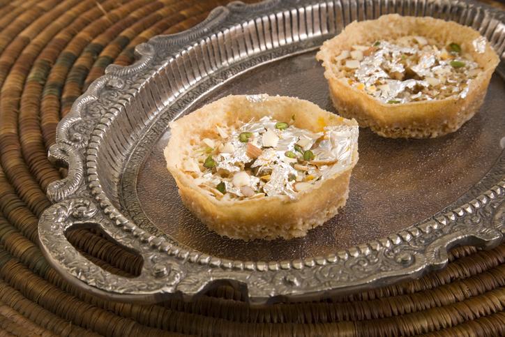 Rajasthani Ghevar or Ghewar, a popular sweet in Rajasthan