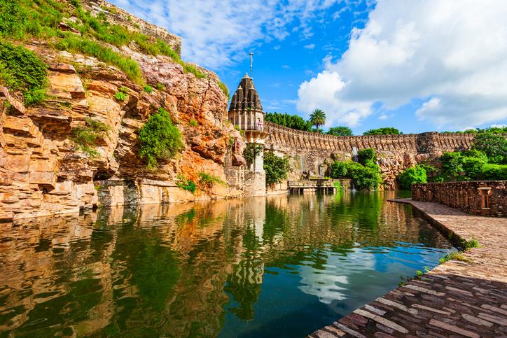 Gaumukh Kund, pond in Chittor Fort in Chittorgarh city, Rajasthan, Rajasthani culture