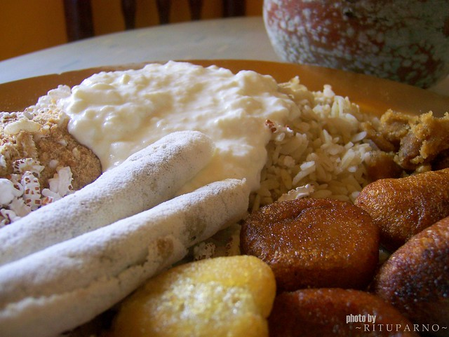 Jolpaan, breakfast dish from Assam, India
