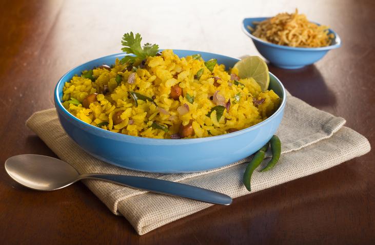 Indian breakfast, poha, popular in Maharashtra