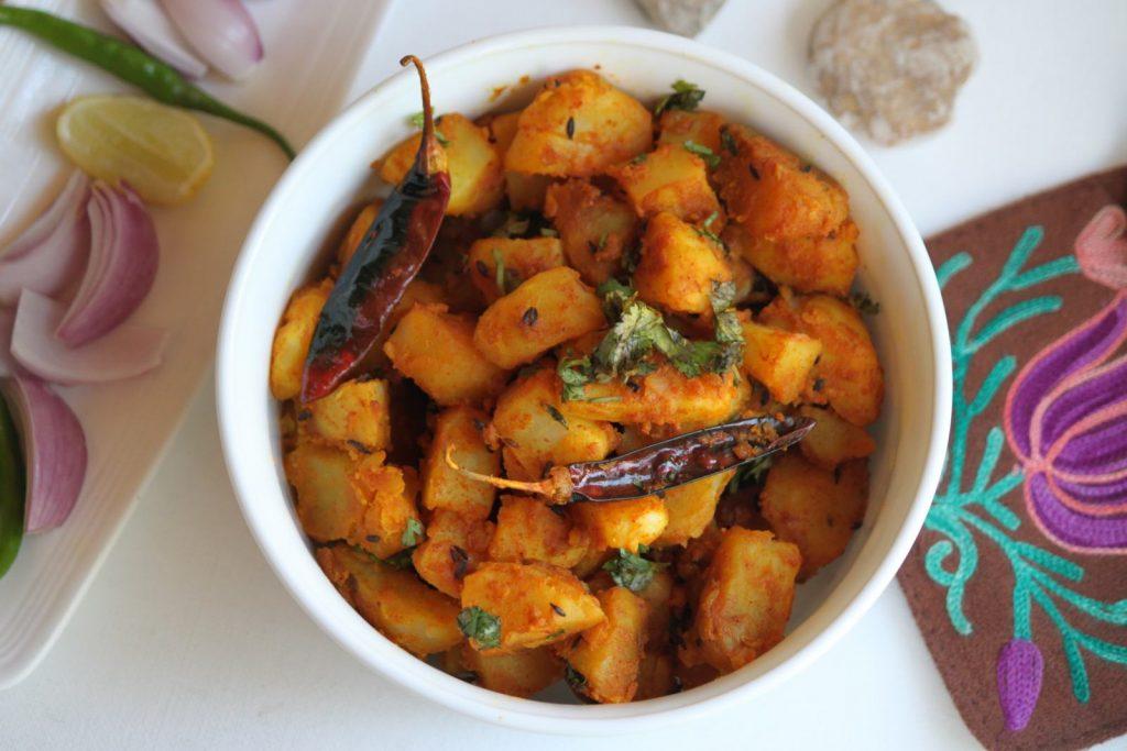 Aloo Gutke, Indian breakfast from Uttarkhand