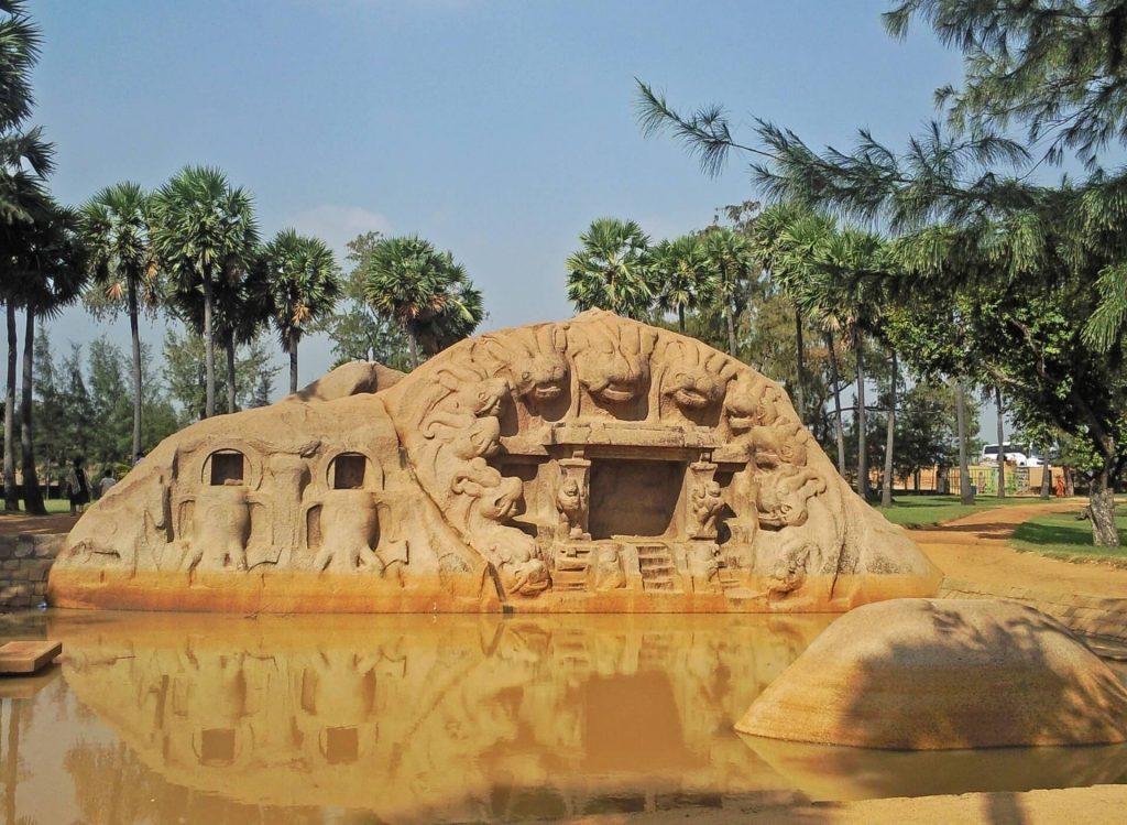 Rock sculpture in Mahabalipuram
