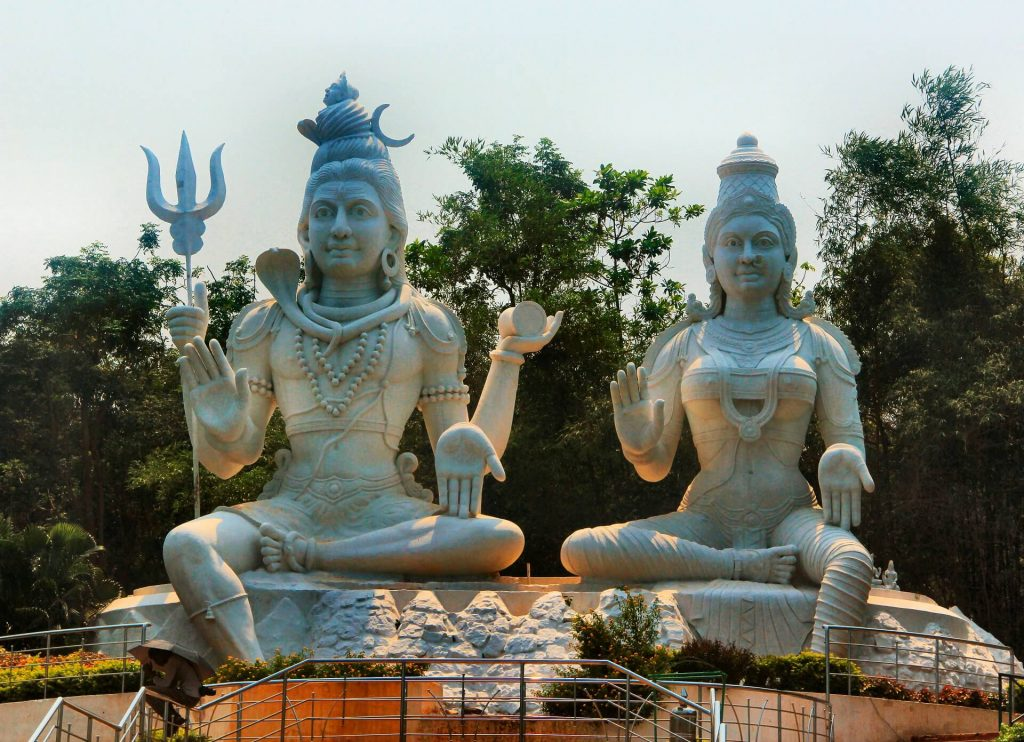 statue of Shiva and Parvati at Kailasagiri Park, places to visit in Vizag