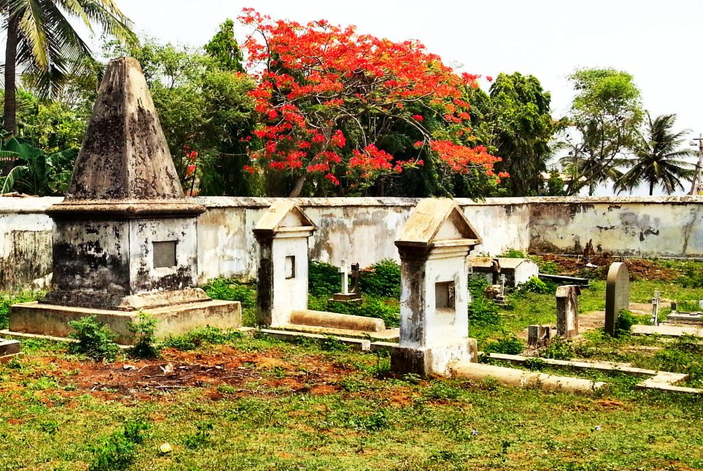 Dutch cemetery at Bheemunipatnam, Andhra Pradesh