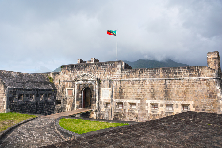 Entrance to Brimstone Hill Fortress in St. Kitts, fun facts about the caribbean