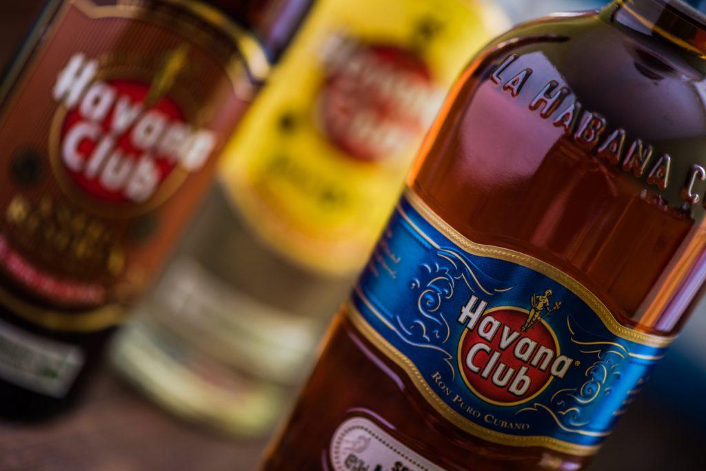 Rum bottles
