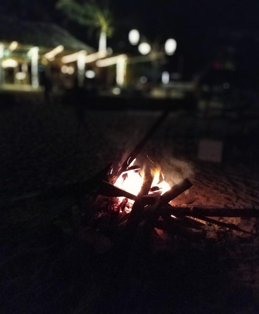 Bonfire in Mirissa