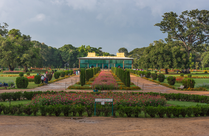 Grounds of Tipu Sultan's Summer Palace, named Daria Daulat Bagh.