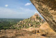 Hill View from Kunti Betta , Pandavapura, Mandya, Karnataka state, India, Asia