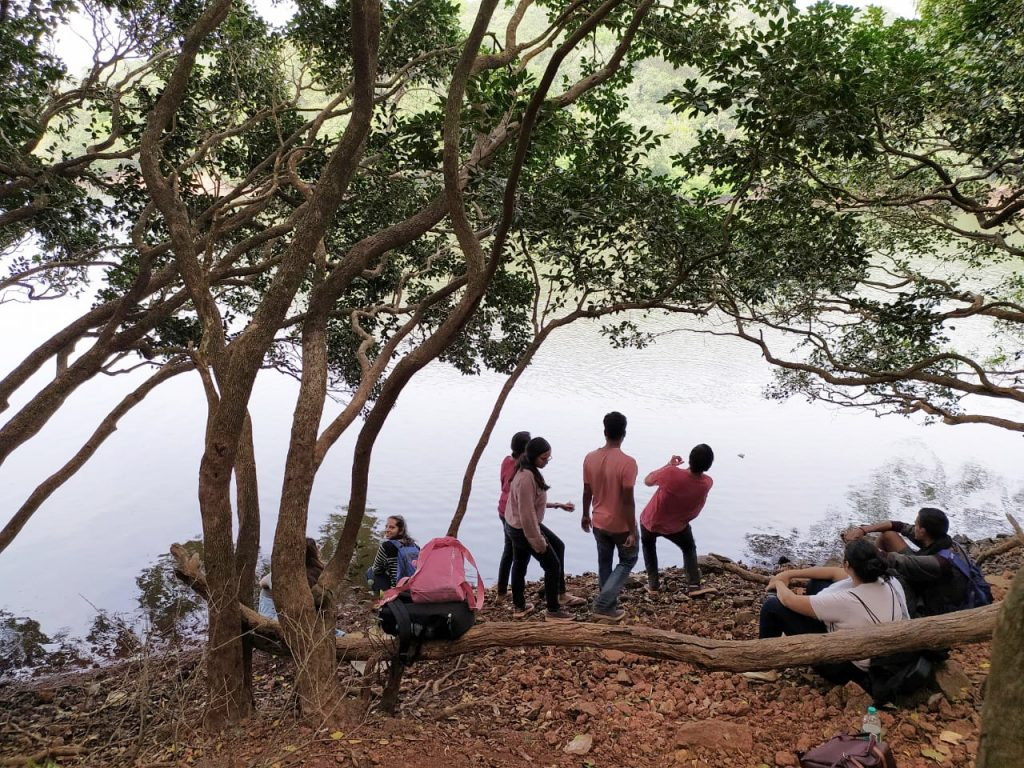View at the Charlotte Lake, Matheran, travelling with friends