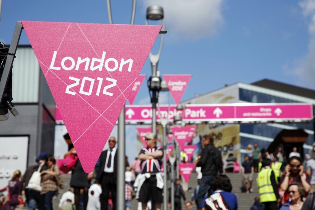 Entrance of London Olympic Park in Stratford, East London, did you know facts