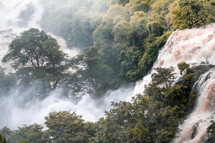 Shivanasamudra waterfalls in Karnataka