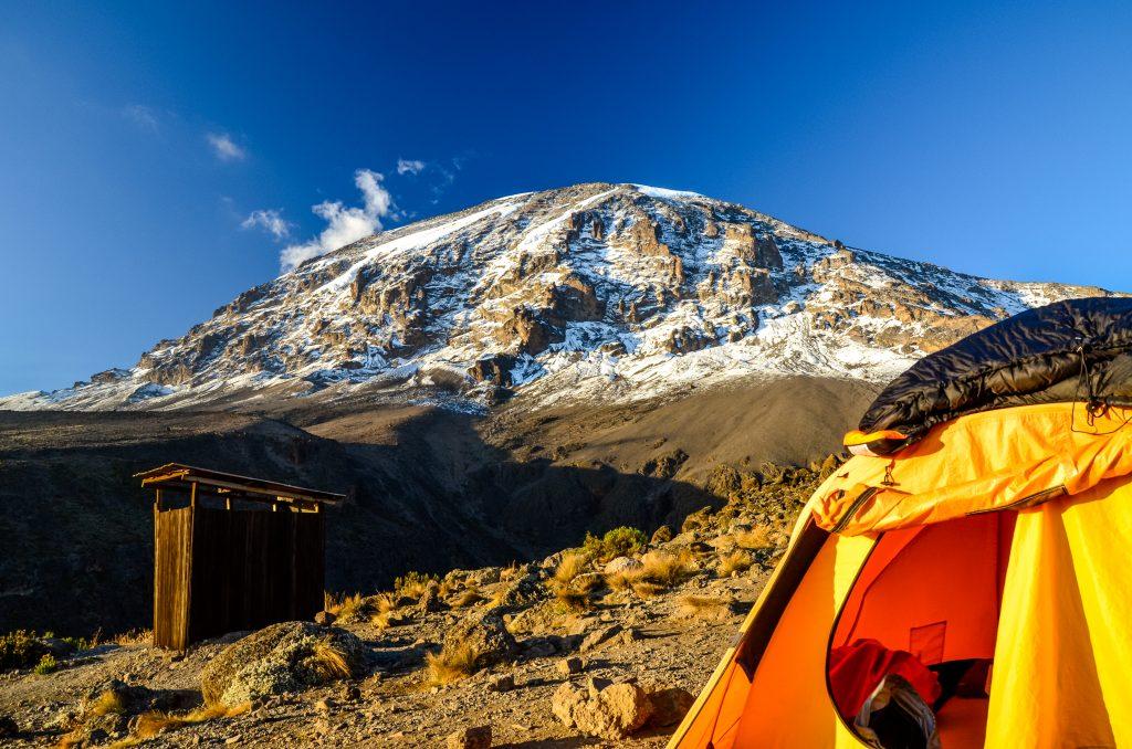 Mount Kilimanjaro with tent - Tanzania, Africa