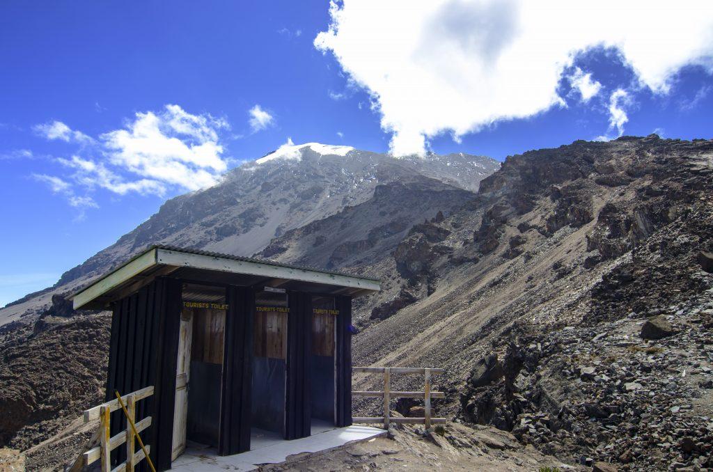 Tourist Toilet at Barafu Base Camp, Mt Kilimanjaro