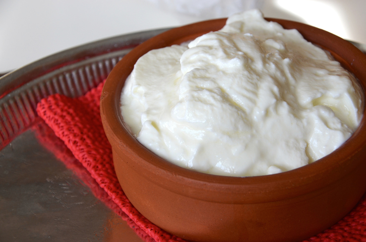 Home made yogurt in clay pot