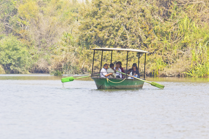 Boating at Ranganathittu bird sanctuary