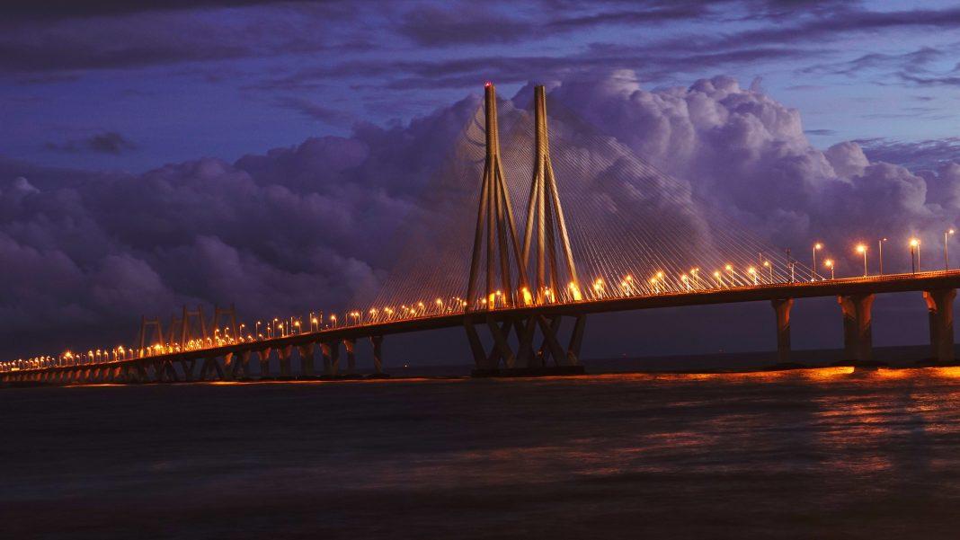 Mumbai Bridge in the Evening