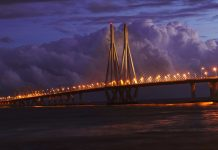 Mumbai Bridge in the Evening