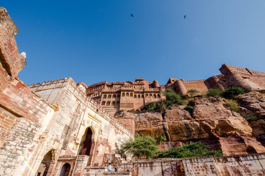 Architecture of the jodhpur Mehrangarh fort rajasthan india during a winter's days, places to visit in jodhpur