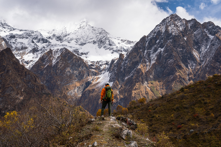Among the highest peaks in the world is Manaslu, Himalayas