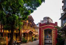 Heritage houses in a lane of Khotachiwadi, Mumbai.