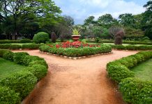 Beautiful view of Lalbagh botanical garden in Bangalore, Karnataka, India