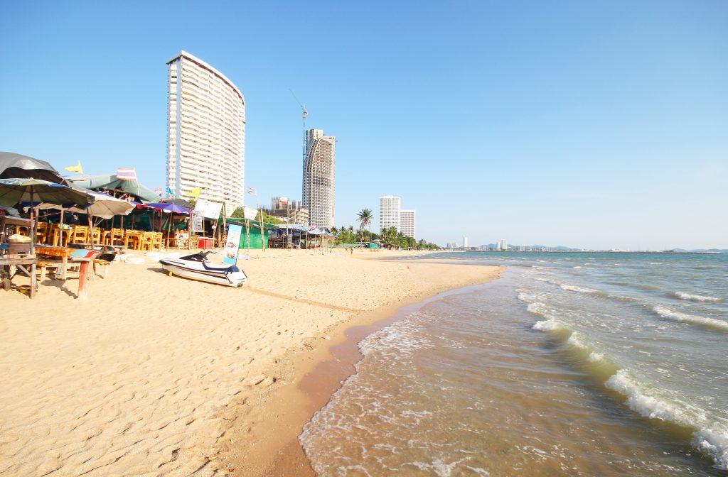 Jomtien beach at Pattaya Thailand