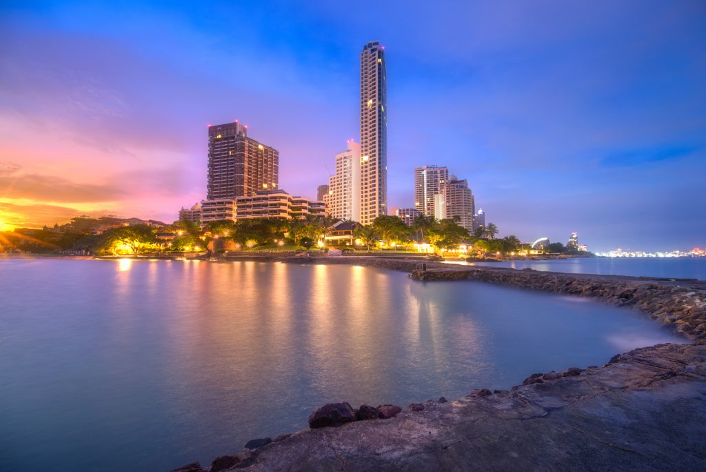 Wong Amat Beach at sunrise