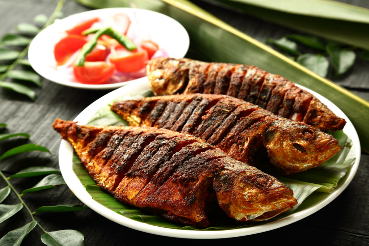 Grilled fish with spices