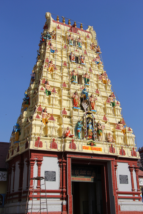The Gopuram of the Sri Krishna temple in Udupi