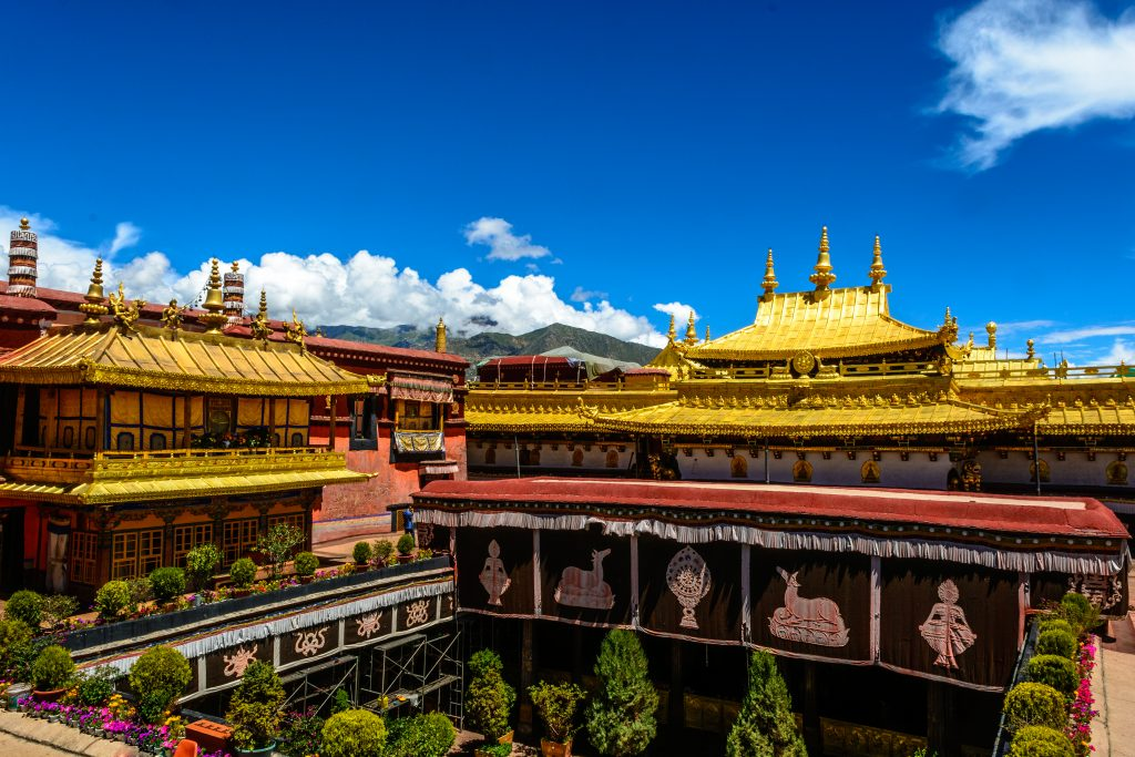 The Jokhang Temple in Lhasa, Tibet, buddhist temples