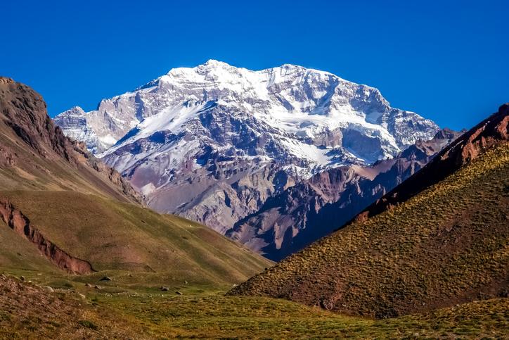Aconcagua, the highest mountain peak outside Himalayas, Argentina