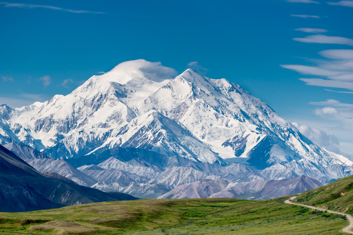 Denali in North America is one of the world's seven summits