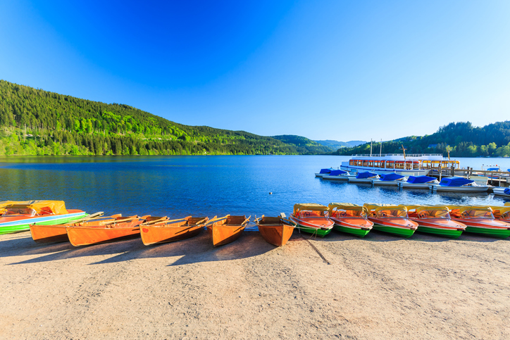 Lake Titisee Neustadt in Black Forest in germany