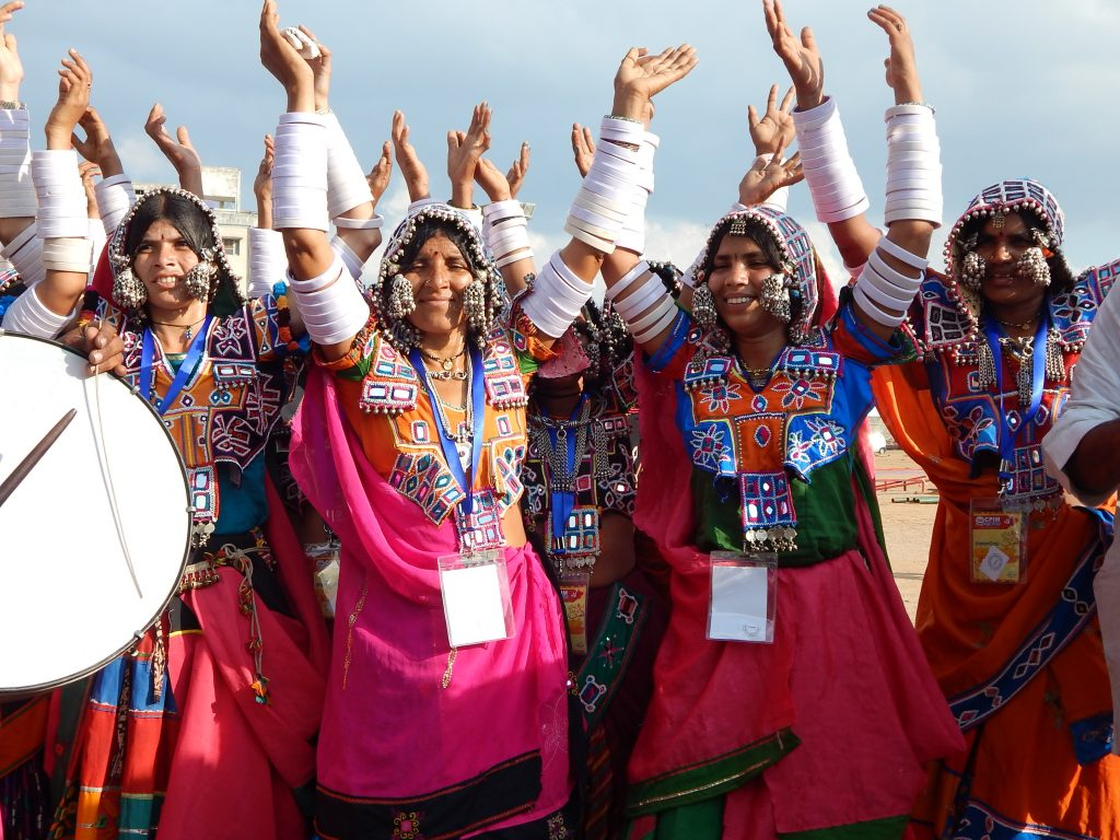 Lambada group perform Lambadi folk Dance of India