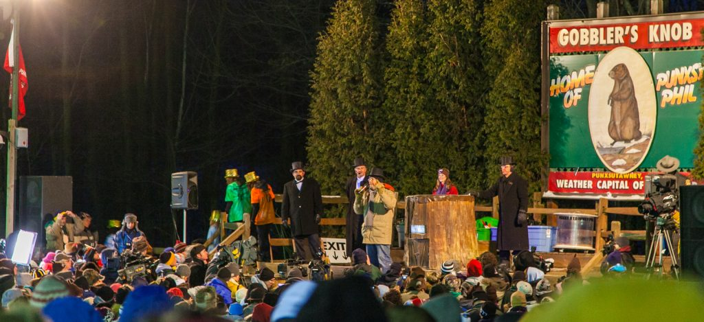 Groundhog day celebrations in America