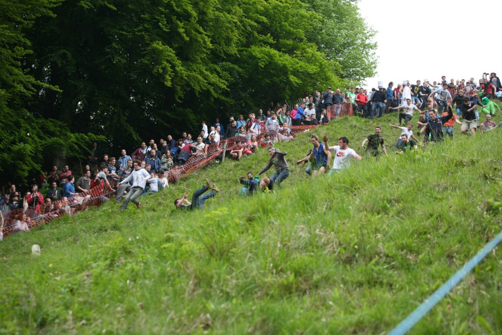 Cheese Rolling one of the unusual traditions from Gloucester