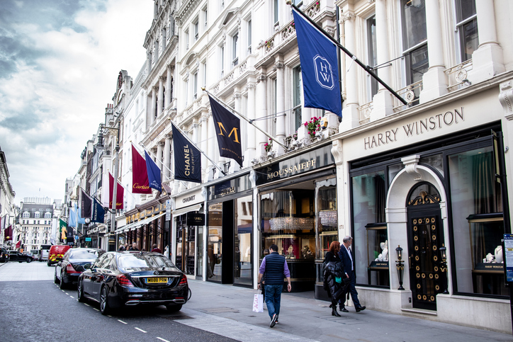Bond Street in London is among the most expensive shopping streets in the world