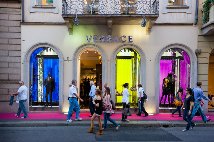 Via Montenapoleone in Milan is among the high end shopping streets