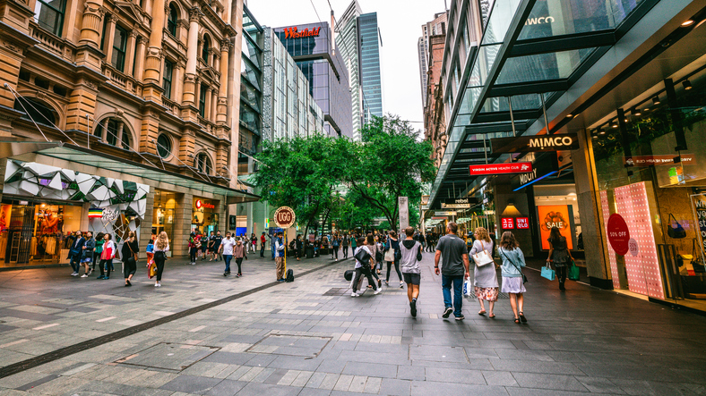 Pitt Mall street in Australia is one of the world's luxury shopping streets
