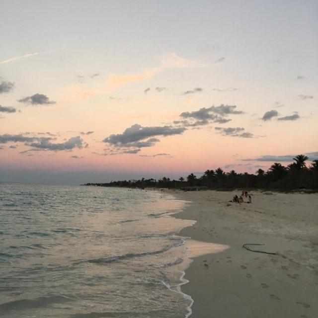 Sunset over Varadero beach