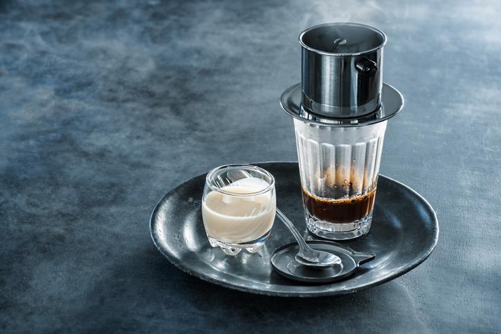 Drip filter, known as phin cà phê