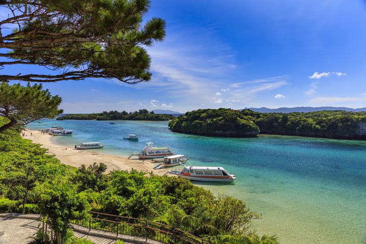 Ishigakijima Summer's Kawahira Bay, islands of Japan