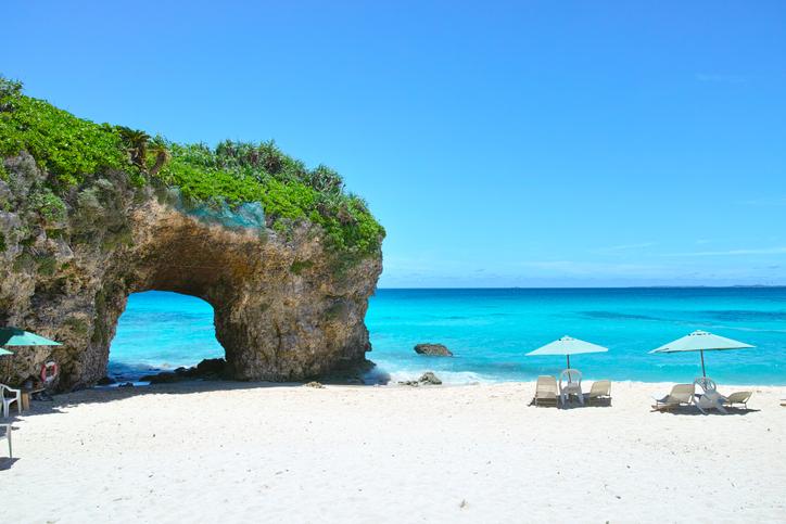 Sunayama beach at one of the islands of Japan
